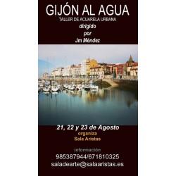 Gijón al Agua (Acuarela Urbana) - Jm Méndez