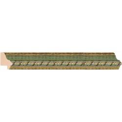Clásica Estrecha Verde y Oro - 18x25mm