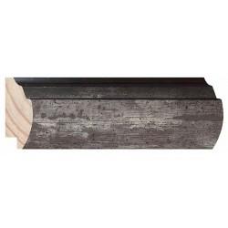 Moldura Escalonada Plata y borde en oscuro - 23x61mm