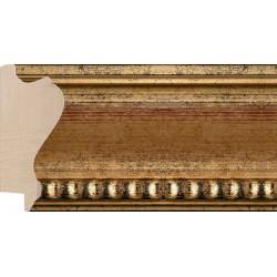 Moldura Clásica Oro filo con bolas - 48x106mm