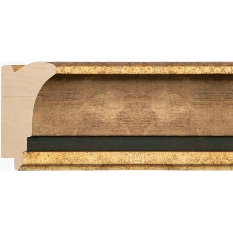 Moldura clásica oro y plata con franja negra - 51x91mm