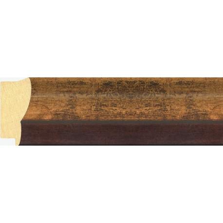 Moldura clásica oro con filo oscuro - 30x65mm