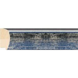 Moldura redondeada azul y plata - 27x61mm