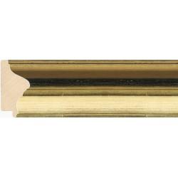 Moldura clásica dorada con franja negra - 34x72mm