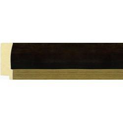Moldura clásica oscura con filo dorado - 20x60mm