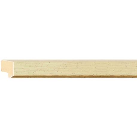 Moldura clásica beige con filo dorado - 15x20mm