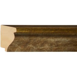 Moldura clásica plateada con exterior en oro - 40x70mm