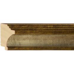 Moldura clásica escalonada en plata y oro - 37x70mm