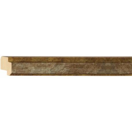Moldura clásica estrecha en plata y oro - 15x25mm