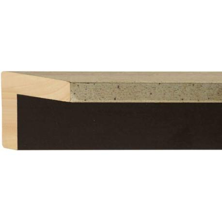 Moldura plateada de fondo negro en L - 50x16-60mm