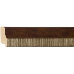 Moldura en madera y filo rayado blanco - 22x55mm