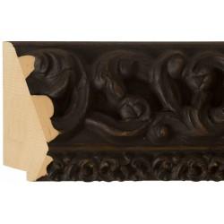 Moldura clásica en madera oscura ancha y tallada - 45x115mm