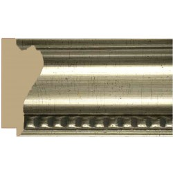 Moldura clásica ancha en plata y talla en filo - 45x105mm