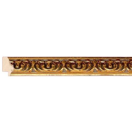 Moldura clásica tallada estrecha en oro - 23x26mm
