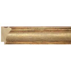 Moldura clásica dorada con centro en crema - 26x47mm