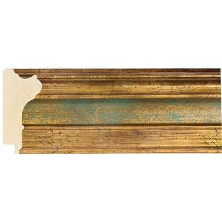 Moldura clásica ancha oro y verde - 35x70mm