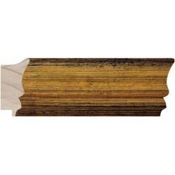 Moldura dorada de bordes gastados - 30x60mm