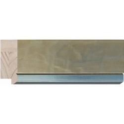 Moldura plateada plana ancha con filo brillante - 25x65mm