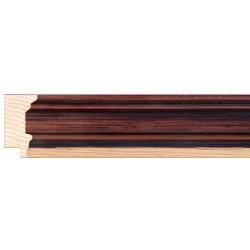Moldura clásica en madera con filo más claro - 26x44mm