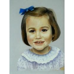 Mª Jesús Conlledo - Retrato en pastel - Primer retrato