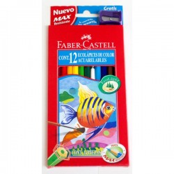 Pack lapiz acuarelable 12Uds - Faber Castell