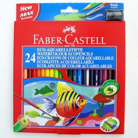 Pack lapiz acuarelable 24Uds - Faber Castell