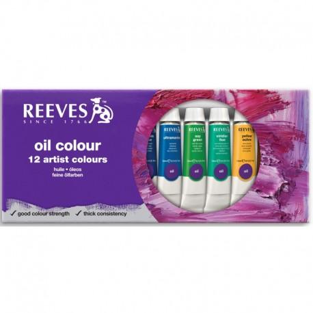 Pack tubos óleo 12x12ml - Reeves