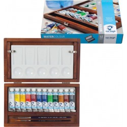 Caja madera acuarelas tubo 12x12ml - Van Gogh, Talens