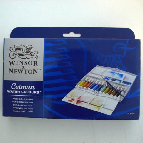 Caja acuarelas tubos 12x8ml - Winsor & Newton