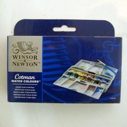 Caja acuarelas 12 x 1/2godet - Cotman Pocket Plus, Winsor & Newton