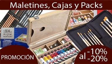 Promoción - Todos los maletines, cajas y packs de pintura rebajados, descuentos del 10% al 20%